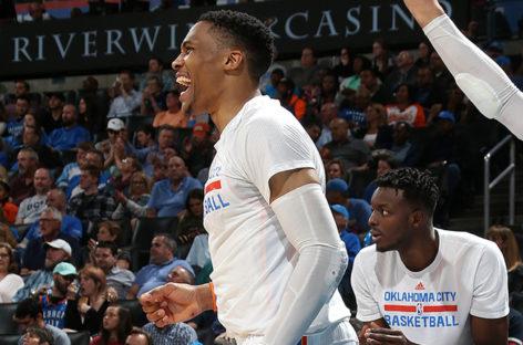 Westbrook ties triple-double mark; Thunder top Bucks 110-79